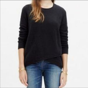 Madewell Feature Waffle Front Wrap Pullover Large